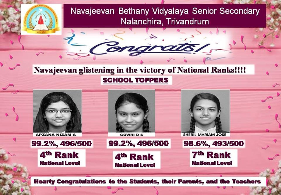 100% pass in STD X CBSE board exam