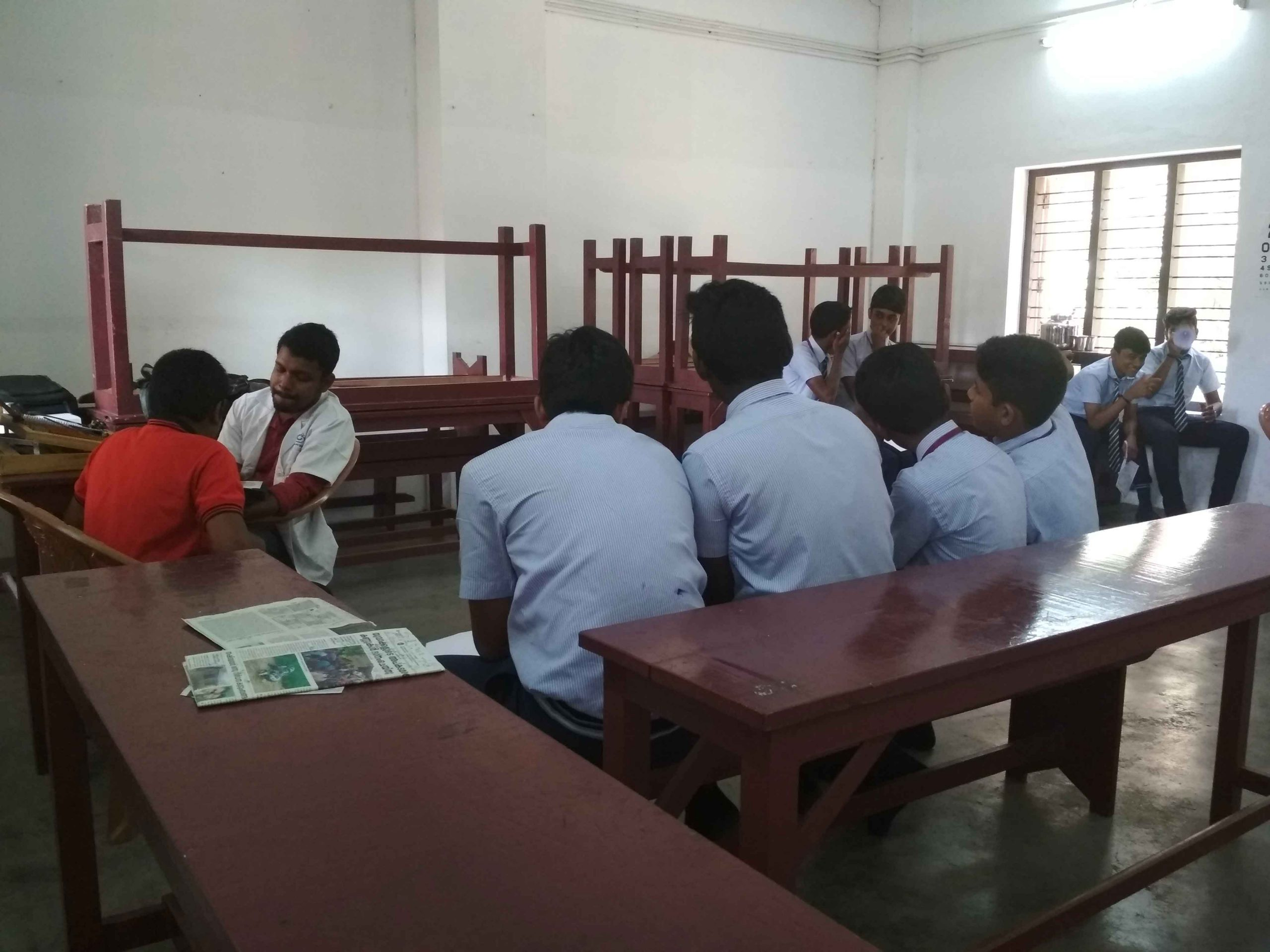 Health check-up camp for students